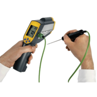 Infrared thermometer with socket for thermocouple probe up to 999.9ºC RAYTEMP 38